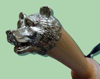 Нагайка с наборной ручкой, медведь